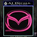 Mazda 3D Decal Sticker Logo Hot Pink Vinyl 120x120
