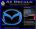 Mazda 3D Decal Sticker Logo Light Blue Vinyl 120x97