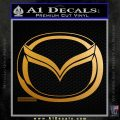 Mazda 3D Decal Sticker Logo Metallic Gold Vinyl 120x120
