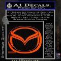 Mazda 3D Decal Sticker Logo Orange Vinyl Emblem 120x120