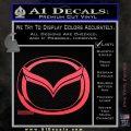 Mazda 3D Decal Sticker Logo Pink Vinyl Emblem 120x120