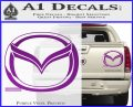 Mazda 3D Decal Sticker Logo Purple Vinyl 120x97