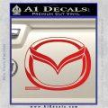 Mazda 3D Decal Sticker Logo Red Vinyl 120x120