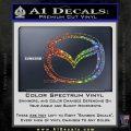 Mazda 3D Decal Sticker Logo Sparkle Glitter Vinyl Sparkle Glitter 120x120