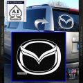 Mazda 3D Decal Sticker Logo White Vinyl Emblem 120x120