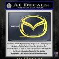 Mazda 3D Decal Sticker Logo Yellow Vinyl 120x120