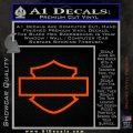 Motorcycle DH Outline D1 Decal Sticker Orange Vinyl Emblem 120x120