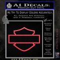 Motorcycle DH Outline D1 Decal Sticker Pink Vinyl Emblem 120x120