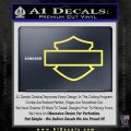 Motorcycle DH Outline D1 Decal Sticker Yellow Vinyl 120x120