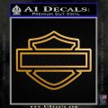 Motorcycle DH Outline D2 Decal Sticker Metallic Gold Vinyl 120x120