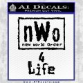 NWO for 4 Life Wrestling Decal Sticker Black Vinyl Logo Emblem 120x120