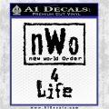 NWO for 4 Life Wrestling Decal Sticker Black Vinyl Logo Emblem 120x120