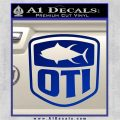 OTI FIshing Decal Sticker Blue Vinyl 120x120
