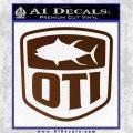 OTI FIshing Decal Sticker Brown Vinyl 120x120