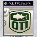 OTI FIshing Decal Sticker Dark Green Vinyl 120x120