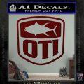 OTI FIshing Decal Sticker Dark Red Vinyl 120x120