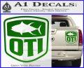OTI FIshing Decal Sticker Green Vinyl 120x97