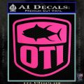 OTI FIshing Decal Sticker Hot Pink Vinyl 120x120