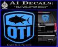 OTI FIshing Decal Sticker Light Blue Vinyl 120x97