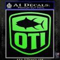 OTI FIshing Decal Sticker Lime Green Vinyl 120x120