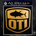 OTI FIshing Decal Sticker Metallic Gold Vinyl 120x120