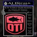 OTI FIshing Decal Sticker Pink Vinyl Emblem 120x120