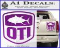 OTI FIshing Decal Sticker Purple Vinyl 120x97