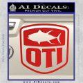 OTI FIshing Decal Sticker Red Vinyl 120x120