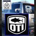 OTI FIshing Decal Sticker White Vinyl Emblem 120x120