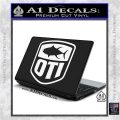 OTI FIshing Decal Sticker White Vinyl Laptop 120x120