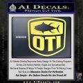 OTI FIshing Decal Sticker Yellow Vinyl 120x120