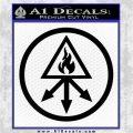 Red King Alchemy Occult Decal Sticker Black Vinyl Logo Emblem 120x120