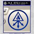Red King Alchemy Occult Decal Sticker Blue Vinyl 120x120