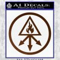 Red King Alchemy Occult Decal Sticker Brown Vinyl 120x120