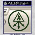 Red King Alchemy Occult Decal Sticker Dark Green Vinyl 120x120