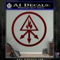 Red King Alchemy Occult Decal Sticker Dark Red Vinyl 120x120