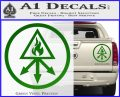 Red King Alchemy Occult Decal Sticker Green Vinyl 120x97