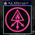 Red King Alchemy Occult Decal Sticker Hot Pink Vinyl 120x120