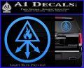 Red King Alchemy Occult Decal Sticker Light Blue Vinyl 120x97