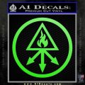 Red King Alchemy Occult Decal Sticker Lime Green Vinyl 120x120
