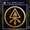 Red King Alchemy Occult Decal Sticker Metallic Gold Vinyl 120x120