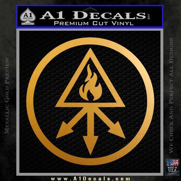 Red King Alchemy Occult Decal Sticker Metallic Gold Vinyl