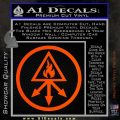 Red King Alchemy Occult Decal Sticker Orange Vinyl Emblem 120x120