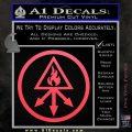Red King Alchemy Occult Decal Sticker Pink Vinyl Emblem 120x120
