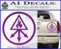 Red King Alchemy Occult Decal Sticker Purple Vinyl 120x97
