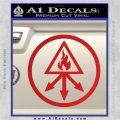 Red King Alchemy Occult Decal Sticker Red Vinyl 120x120