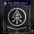 Red King Alchemy Occult Decal Sticker Silver Vinyl 120x120