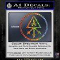 Red King Alchemy Occult Decal Sticker Sparkle Glitter Vinyl Sparkle Glitter 120x120