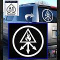Red King Alchemy Occult Decal Sticker White Vinyl Emblem 120x120