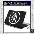 Red King Alchemy Occult Decal Sticker White Vinyl Laptop 120x120